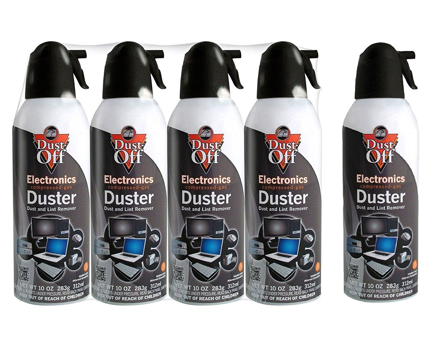 Dust-Off Disposable Compressed Gas Duster, 10 oz Cans - 5 Packs
