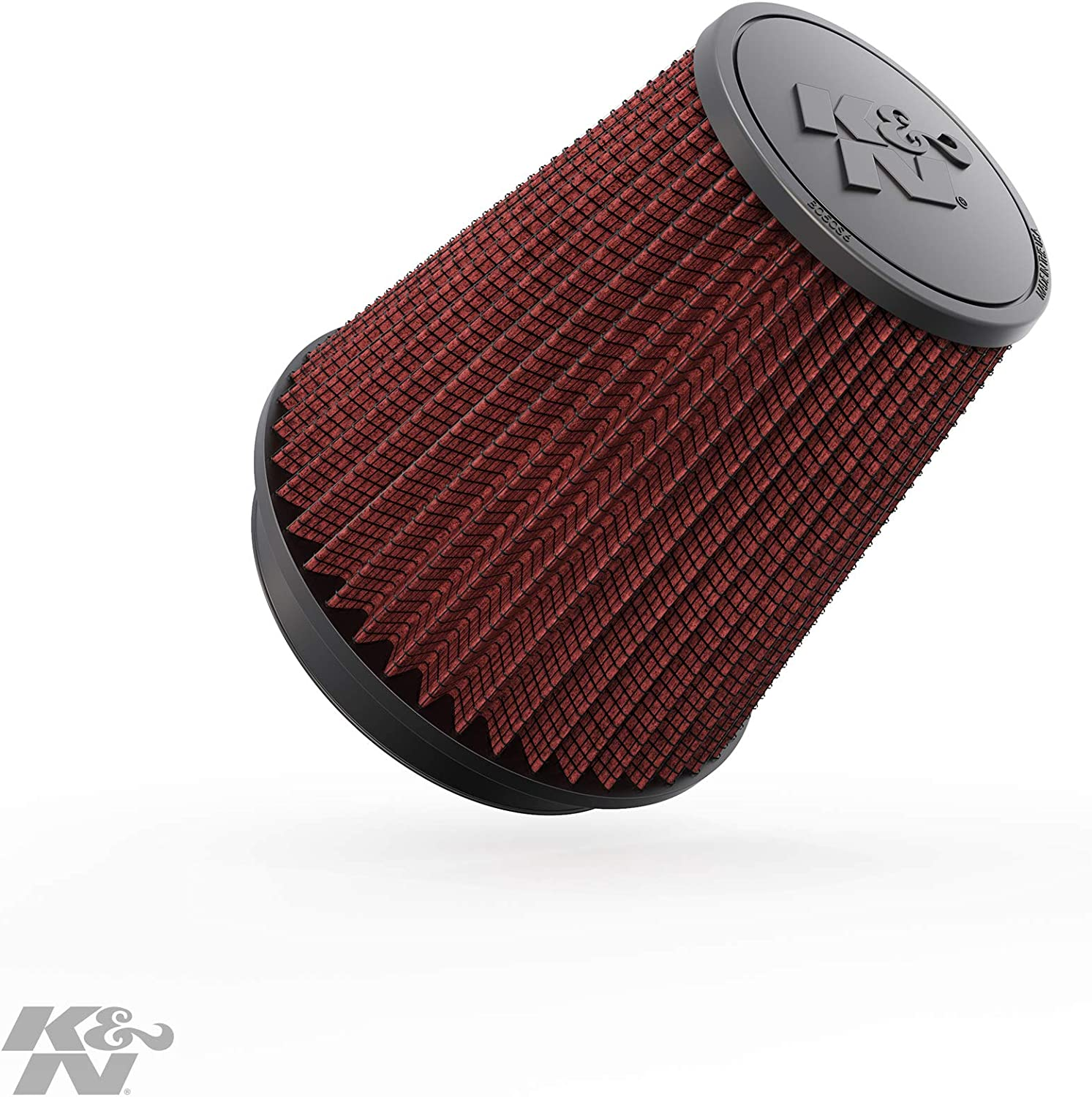 K&N Universal Clamp-On Engine Air Filter: Washable and Reusable: Round Tapered; 6 in (152 mm) Flange ID; 8.5 in (215.9 mm) Height; 7.5 in (191 mm) Base; 5 in (127 mm) Top , RF-1041