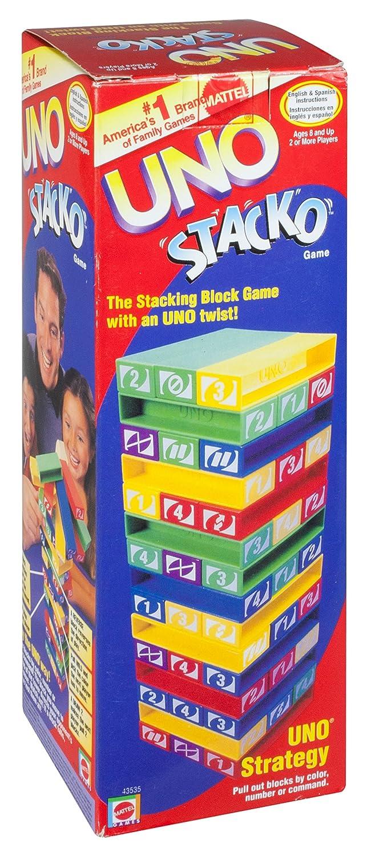 amazon com uno stacko toys u0026 games