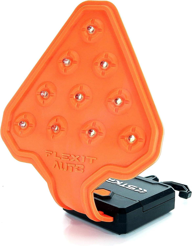 STKR Concepts FLEXIT Auto- 200 Lumen LED Flexible Safety Flashlight, Orange/Black
