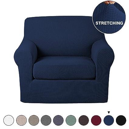 Amazon.com: Turquoize 2 Piece Sofa Cover Stylish Stretch Chair ...