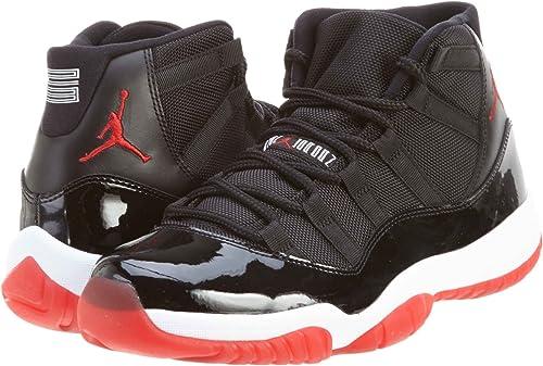 Nike Mens Air Jordan 11 Retro Bred Leather Basketball Shoes