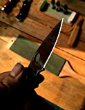 Leather Paddle Strop Large 2 Side, 3 inch by 9 inch with 2.8 oz. Green White Polishing Compounds Knife Strop for Sharpening Stropping Knives