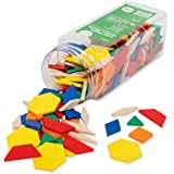 Edx Education Plastic Pattern Blocks - in Home Learning Manipulative for Early Geometry - Set of 250 - Shape Recognition…