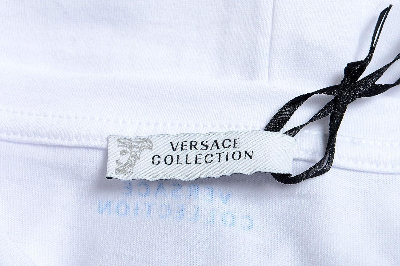 Versace Collection Mens White Pocket Crewneck T-Shirt Size US XL IT 54