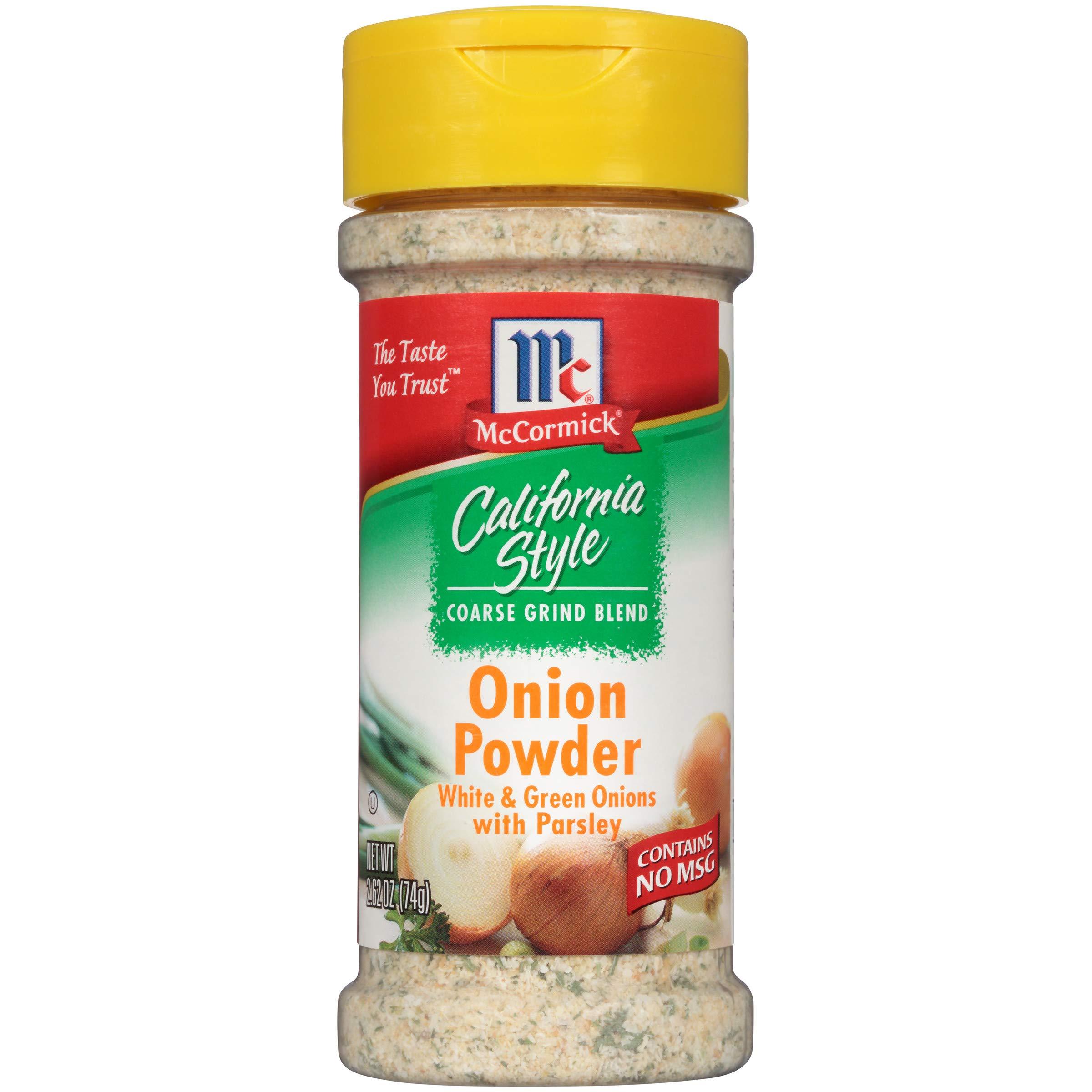 McCormick California Style Coarse Grind Blend Onion Powder, 2.62 oz