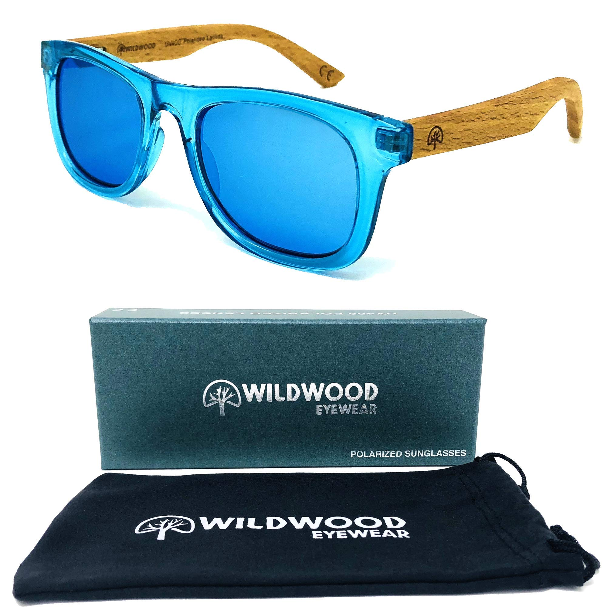 Wildwood Kids Wayfarer Polarized Sunglasses (Ages 4-8) (Blue)