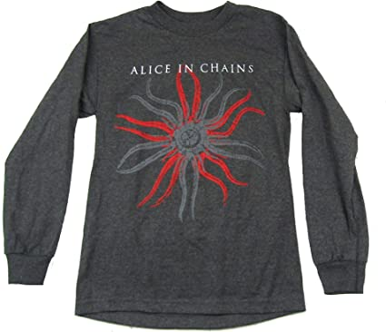 ALICE IN CHAINS LOGO 3 Long Sleeve New T-shirt Rock Band Shirt Long Sleeve Tee