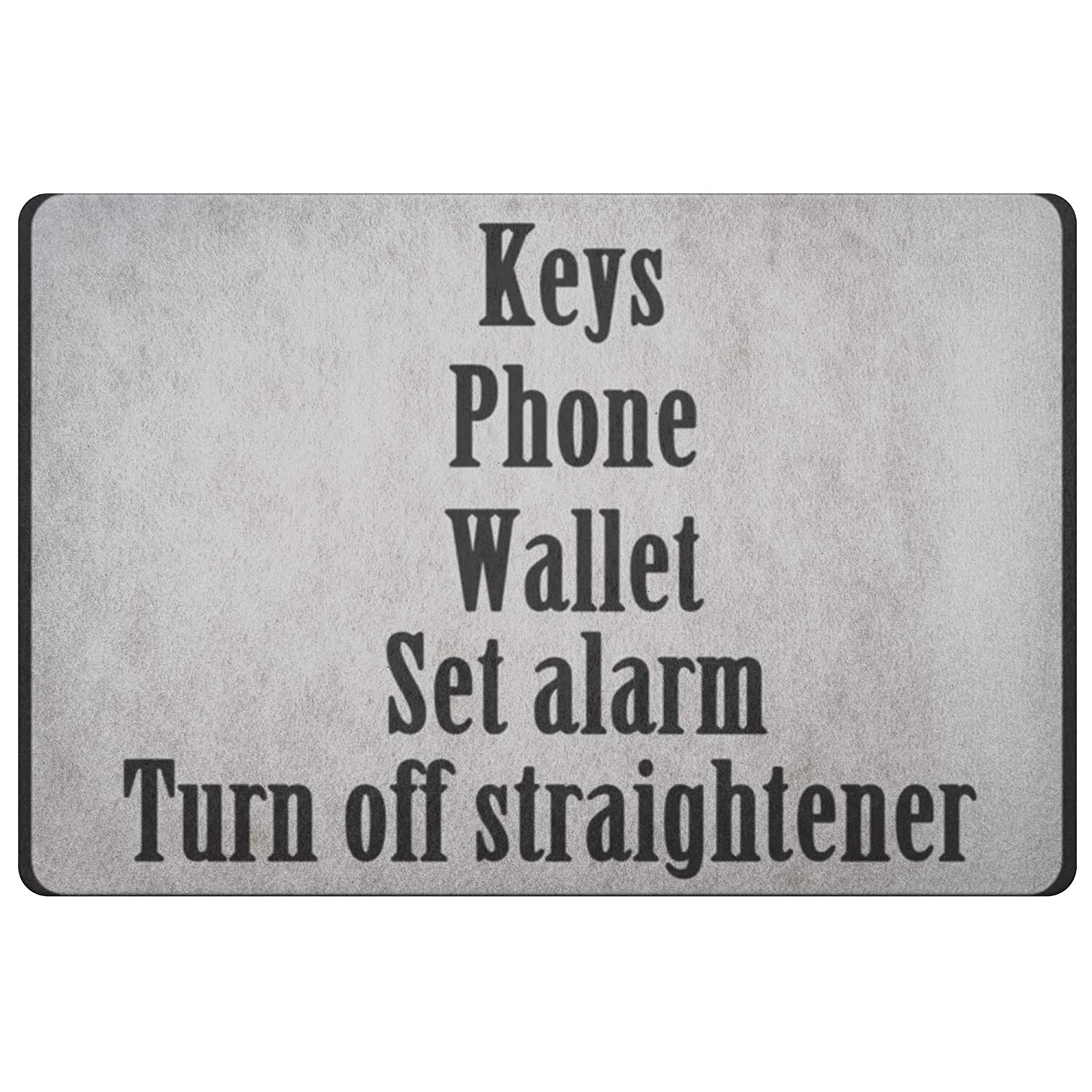 Amazon.com: Personalized Doormat Keys Phone Wallet set alarm ...