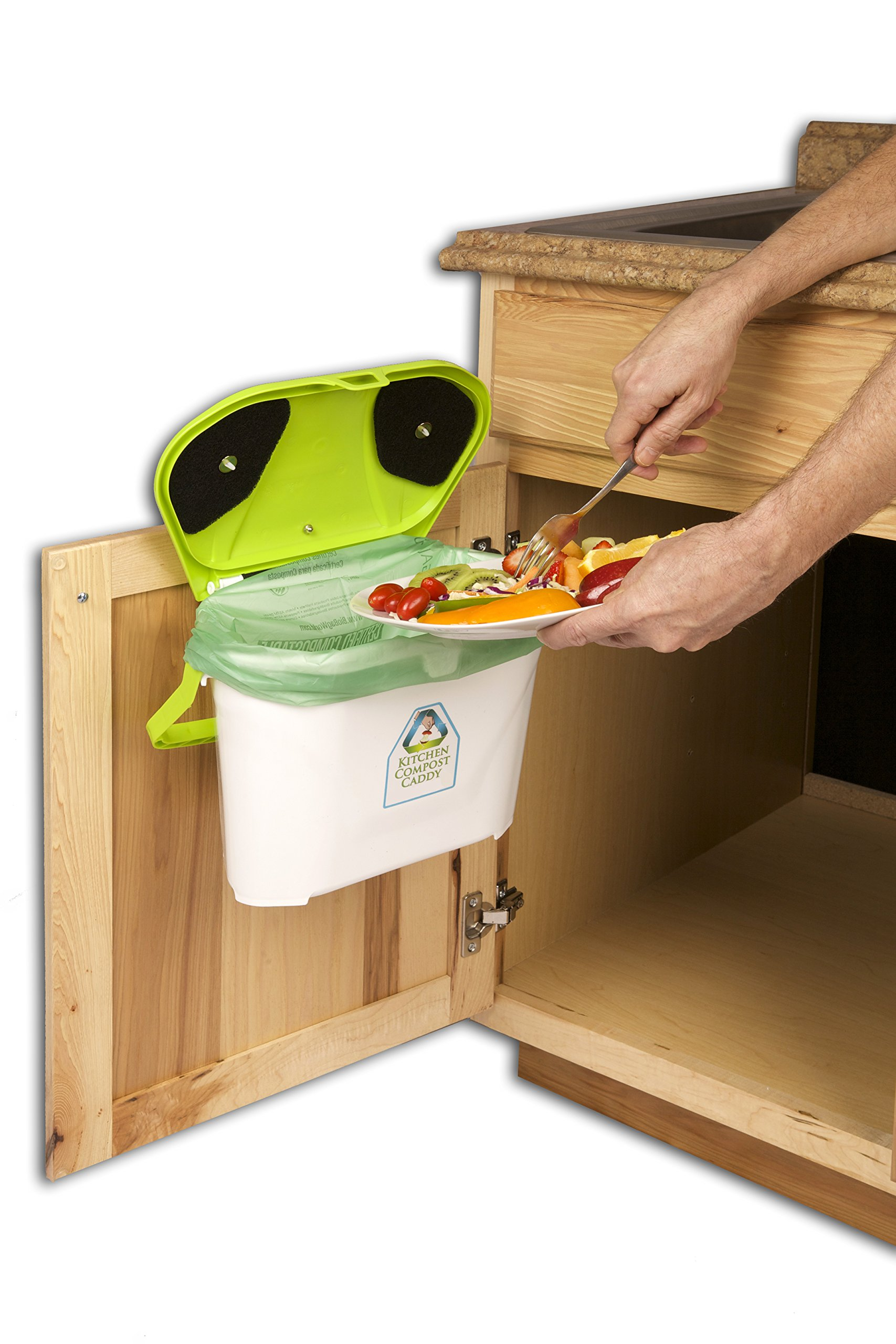 kitchen compost caddy cabinet mounted compost bin pail system product image
