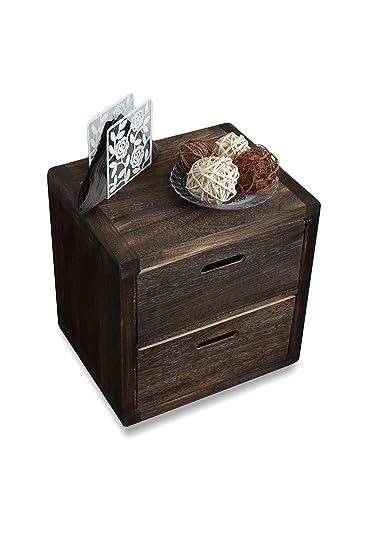 rebecca srl comodino cassettiera mobile bagno 2 cassetti legno ... - Cassettiera Legno Scuro