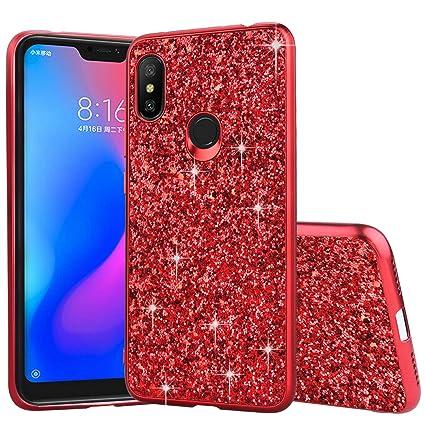 6ee9972169 Amazon.com: Shinyzone Xiaomi Redmi Note 6 Glitter Sequin Case ...