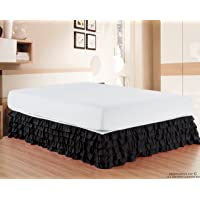 Elegant Comfort Luxurious Premium Quality 1500 Thread Count Wrinkle Resistant Egyptian Cotton Quality Multi-Ruffle Bed Skirt - 15inch Drop Twin, Full, Queen, King, California King
