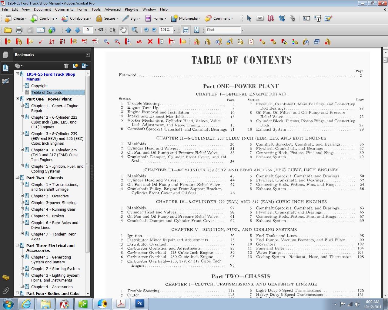 1954 55 Ford Truck Shop Manual Motor Company David E Leblanc Problems With 3 7 Engine 9781603710640 Books