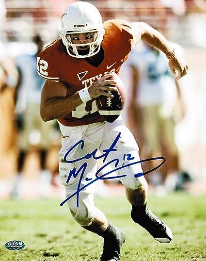 dc2651cdf37 Amazon.com: Colt McCoy Autographed Texas Longhorns 8x10 photo ...