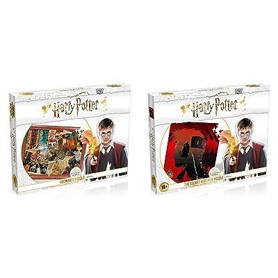 Harry Potter Hogworts and Horcrux 1000 Piece Puzzles 2 Piece Bundle: Toys & Games