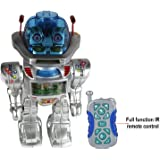 Arihant Impex Radio Remote Controlled Plastic RC Dancing Robot w/ R/C Missile Disc Launcher(Silver)