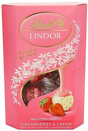 Lindt Lindor Strawberry and Cream Lindor 200 g