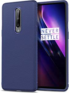 Oneplus 8 Slant Texture All-Inclusive Anti-Fall Soft TPU Mobile Phone Case Cover - Blue
