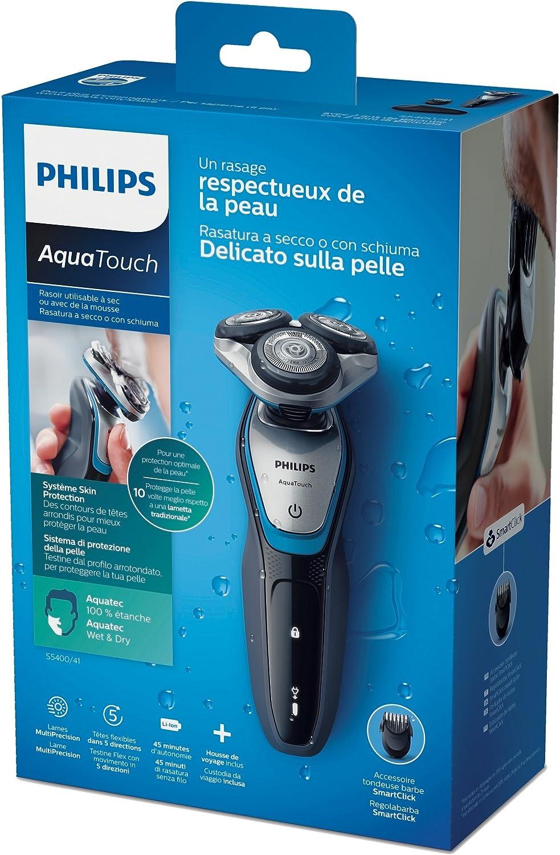 Philips AquaTouch S5400 - Afeitadora eléctrica rotativa para ...
