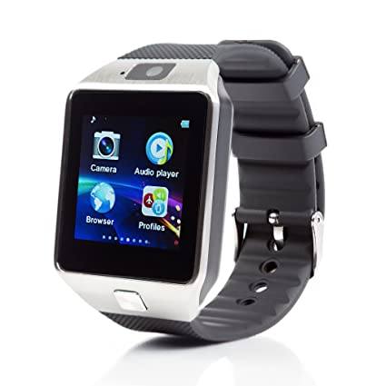 959147c0024331 Piqancy DZ09 Smart Watch Bluetooth V3.0 Support SIM Card, SD Card with  Camera for All Smartphones, Free Size (Silver): Amazon.in: Computers &  Accessories