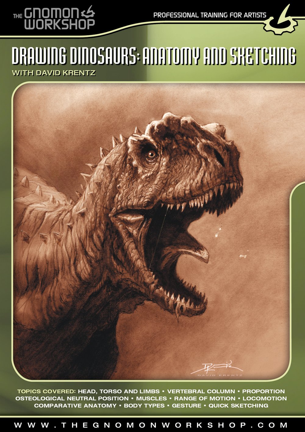 Buy Drawing Dinosaurs: Anatomy and Sketching with David Krentz Book ...