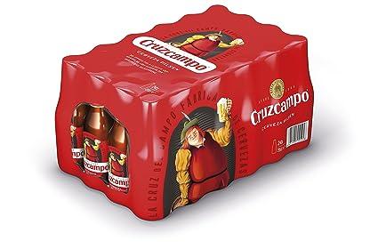 Cruzcampo Cerveza - Caja de 24 Botellas x 250 ml - Total: 6 L