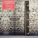 "Back40Life | 60"" Premium Engraved Wooden Growth Height Chart Ruler - The Establishment (Dark Walnut + Antique White)"