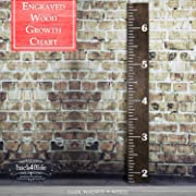 Back40Life | 60  Premium Engraved Wooden Growth Height Chart Ruler - The Establishment (Dark Walnut + Antique White)