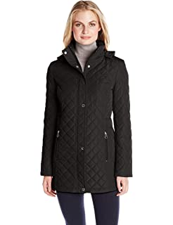 c3d77d942cb Calvin Klein Women s Classic Quilted Jacket with Side Tabs