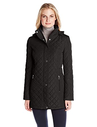 Calvin Klein Women's Classic Quilted Jacket with Side Tabs at