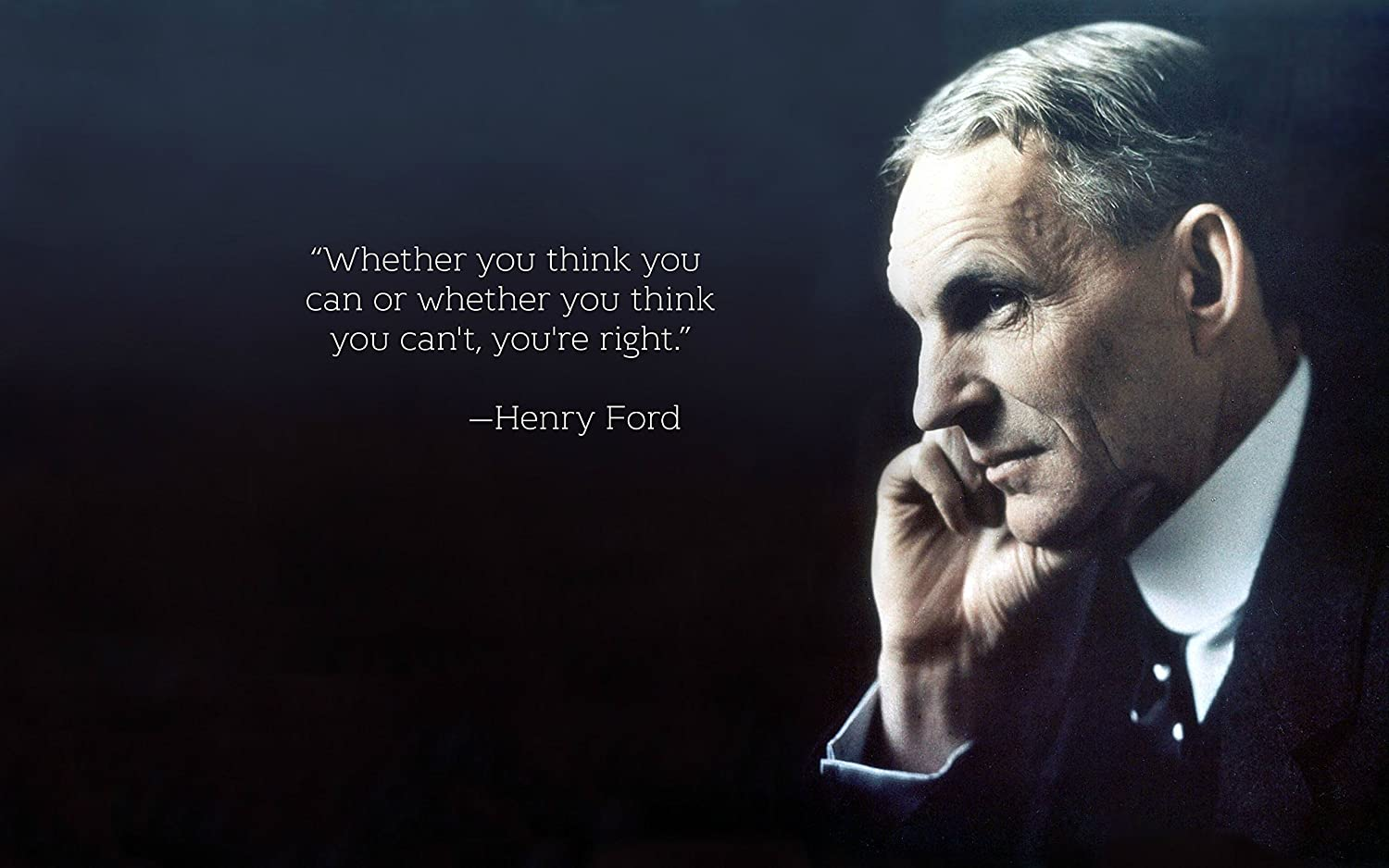 Conversationprints Henry Ford Quote Glossy Poster Picture Photo Cool Cars Detroit Historical