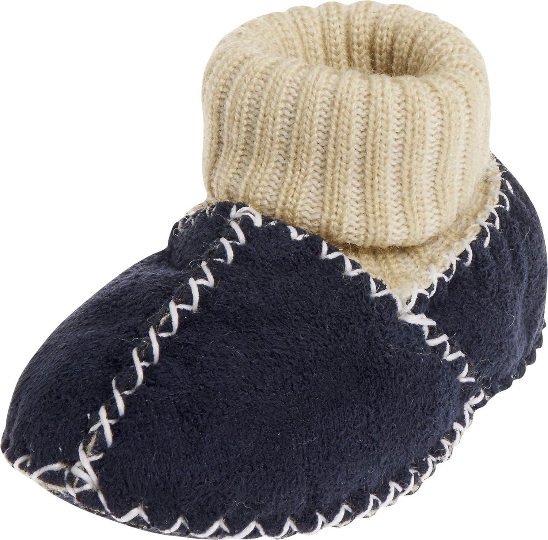 Playshoes Babyschuhe In Lammfell-Optik Mit Strickbund - Zapatillas de casa Bebé-Niños 105933.0