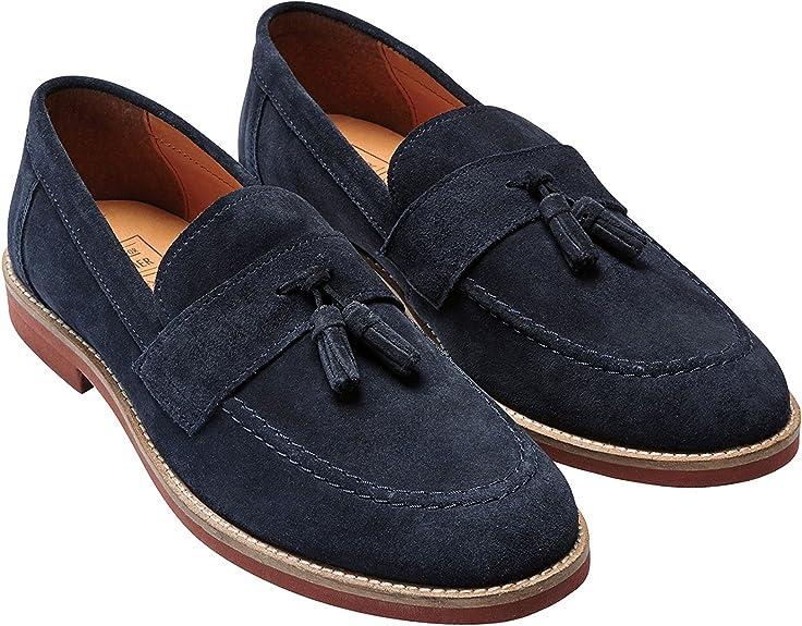 next Hombre Zapatos Zapatillas Mocasines De Ante Adorno De Borlas ...