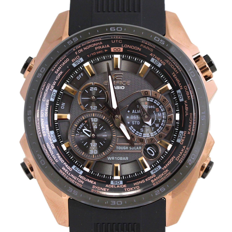95a858811522 Casio Edifice Negro x esfera de color oro rosa reloj para hombres -  eqs500cg-1 a  Casio Edifice  Amazon.es  Relojes