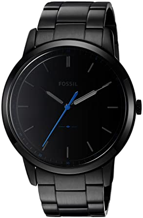 b67ac3ad348 Amazon.com  Fossil Men s The Minimalist Quartz Stainless Steel Dress ...