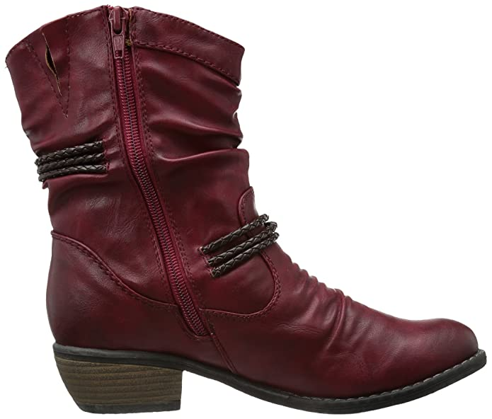 92988, Bottines femme - Rouge (35 Vino), 36 EU (3.5 UK) (5.5 US)Rieker