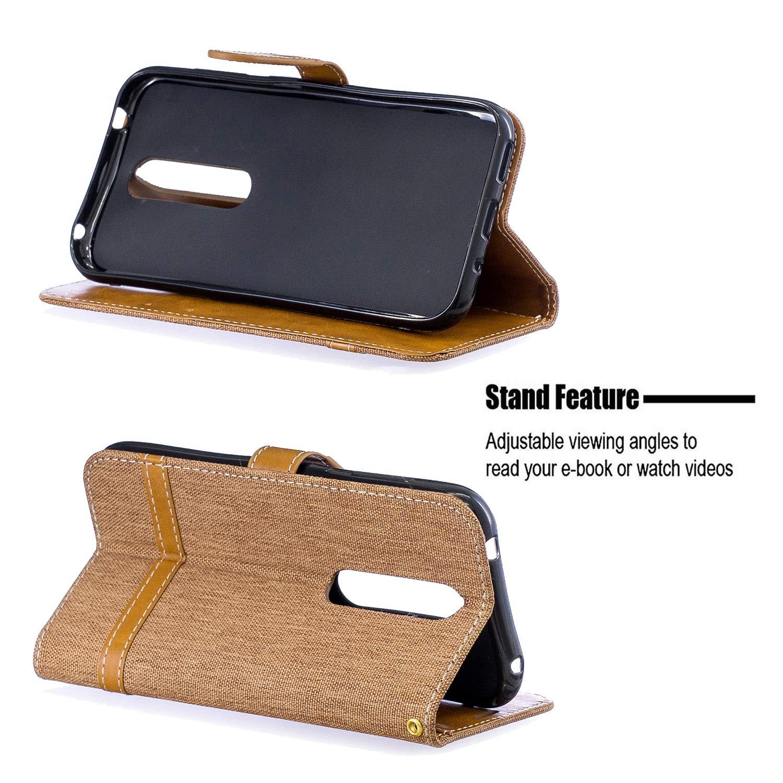 Amazon.com: Lomogo Nokia 4.2 Case Leather Wallet Case with ...
