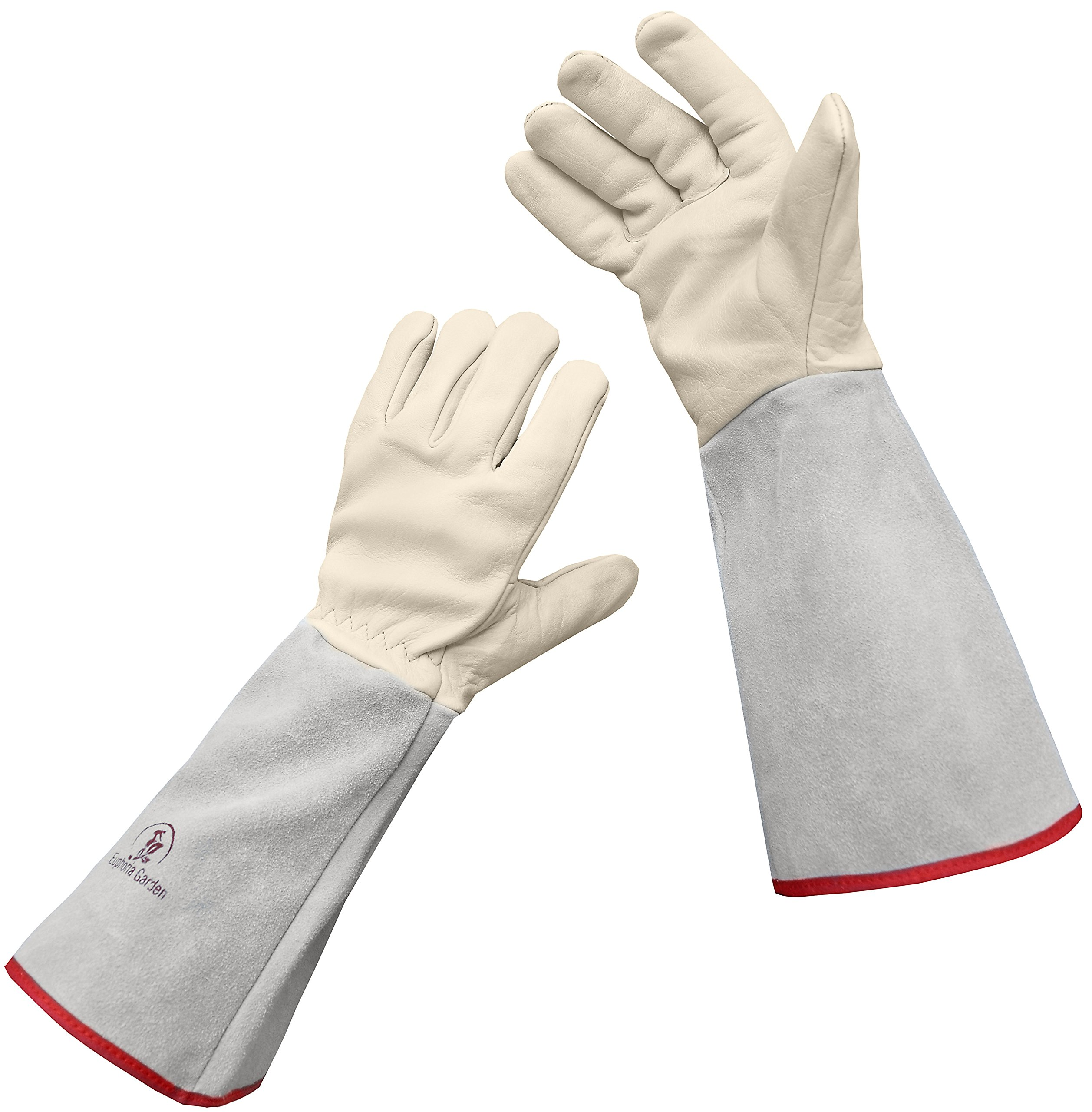 Euphoria Garden Thornproof Leather ROSE GARDENING Gauntlet Gloves – Medium by EUPHORIA GARDEN