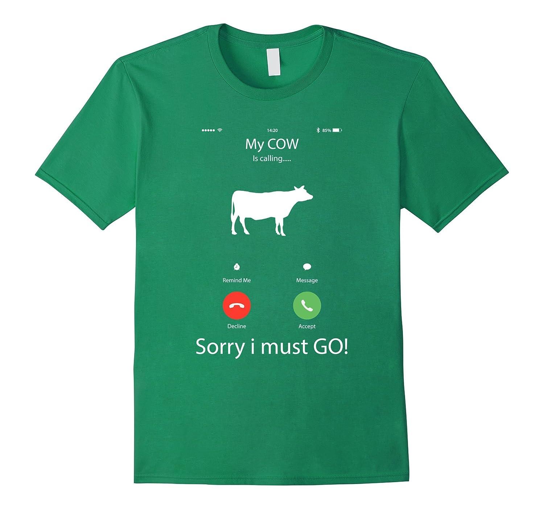 My Cow is calling farmer tee shirt  Funny farming T-Shirt-BN
