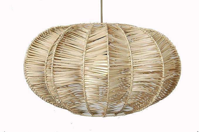 Lámpara Colgante Exótico Abaca Natural: Amazon.es: Iluminación
