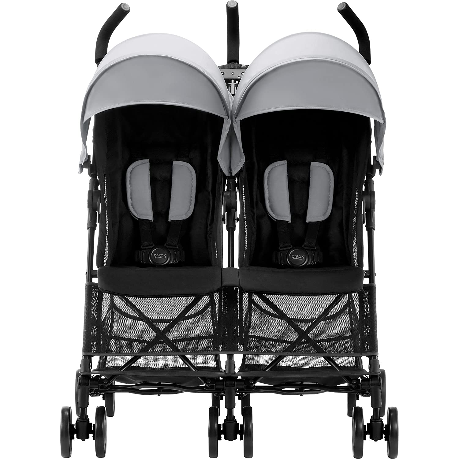 Britax Holiday Double - Silla de paseo gemelar, color Steel Grey: Amazon.es: Bebé