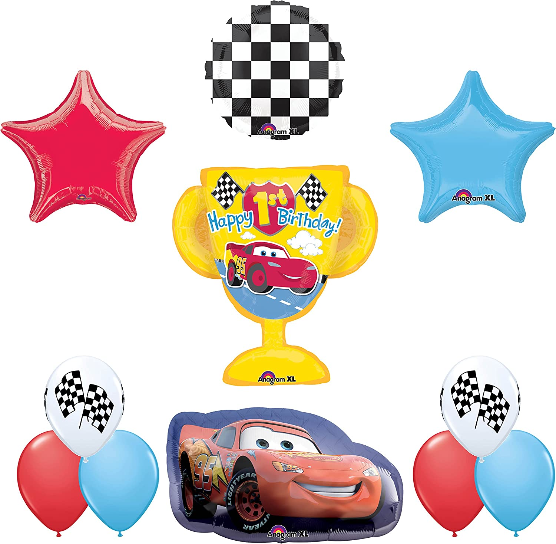 Amscan 3537001 Super//Shape Lightning McQueen Balloon Mayflower