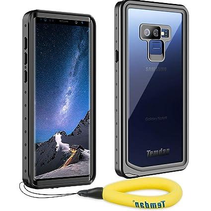 Temdan Samsung Galaxy Note 9 Waterproof Case, Heavy Duty Support Wireless Charging Full Body Shockproof Case Built in Screen Protector Underwater ...