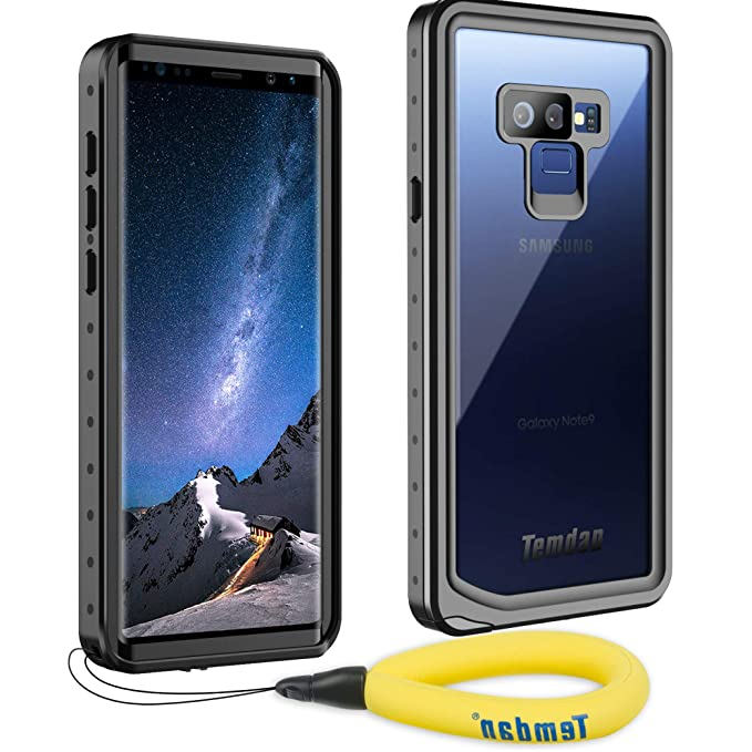 premium selection c2d4d 0eac1 Temdan Samsung Galaxy Note 9 Waterproof Case, Heavy Duty Support Wireless  Charging Full Body Shockproof Case Built in Screen Protector Underwater ...