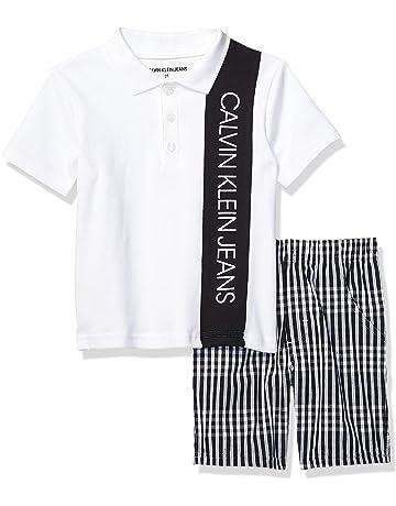 94785a2621 Calvin Klein Baby Boys' 2 Pieces Polo Shorts Set