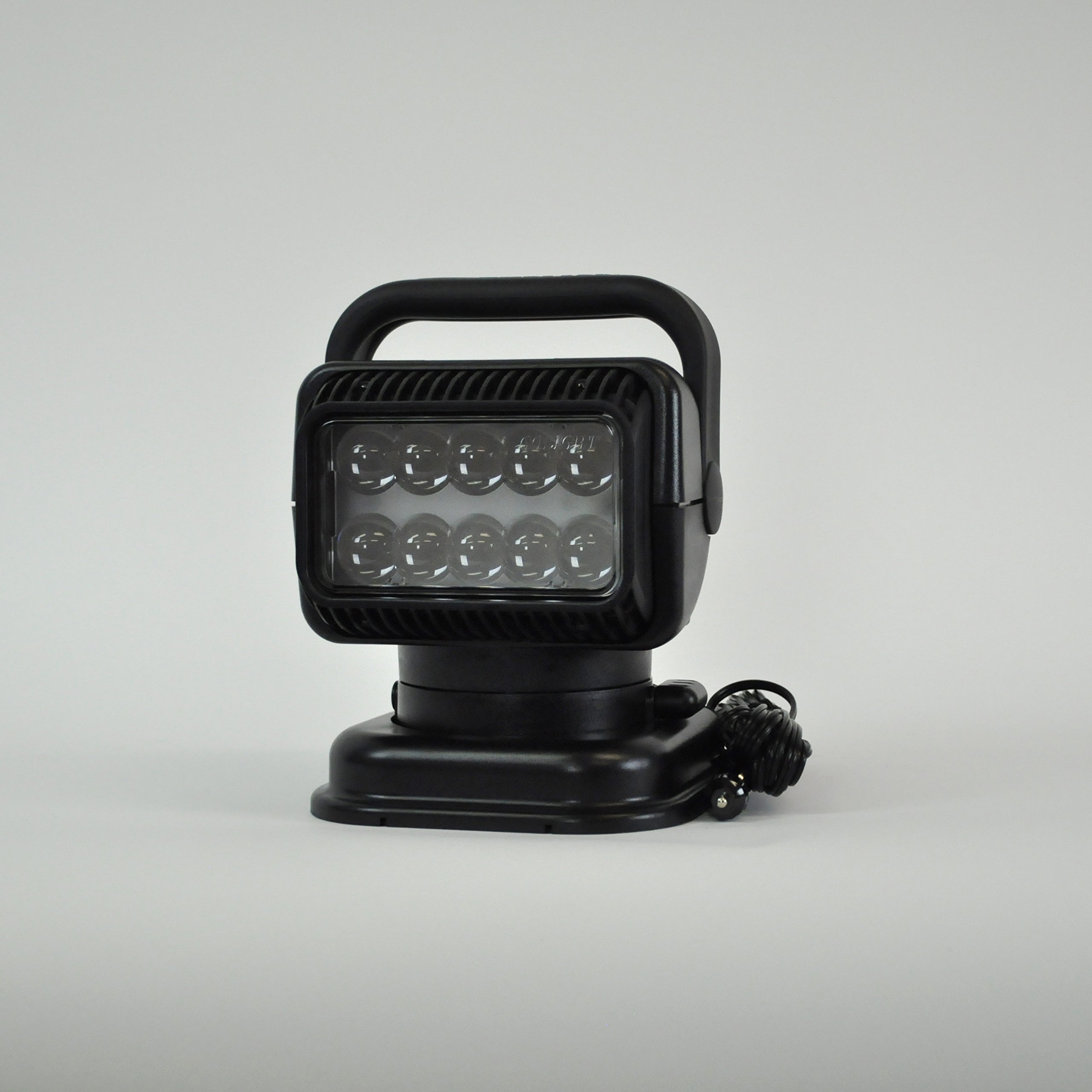 Go Light RadioRay LED  Portable Searchlight with Wireless Handheld Remote, Magnetic Shoe,Black