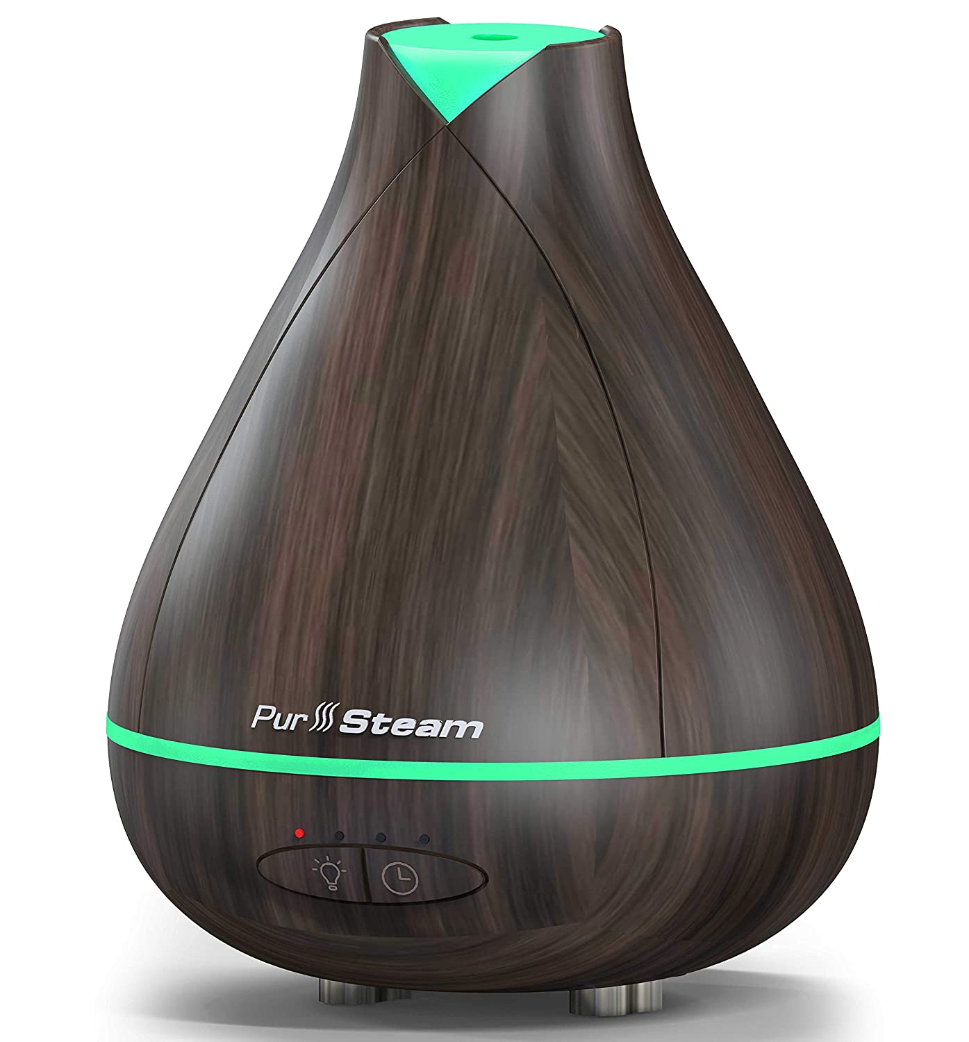PurSteam 530ml Essential Oil Diffuser, Noise Reduce Design - Quieter, Longer Mist Output, 8-15 Hours Ultrasonic Aroma Diffuser with Waterless Auto-off, 7-Color LED Soft Light for Home, Office, Yoga