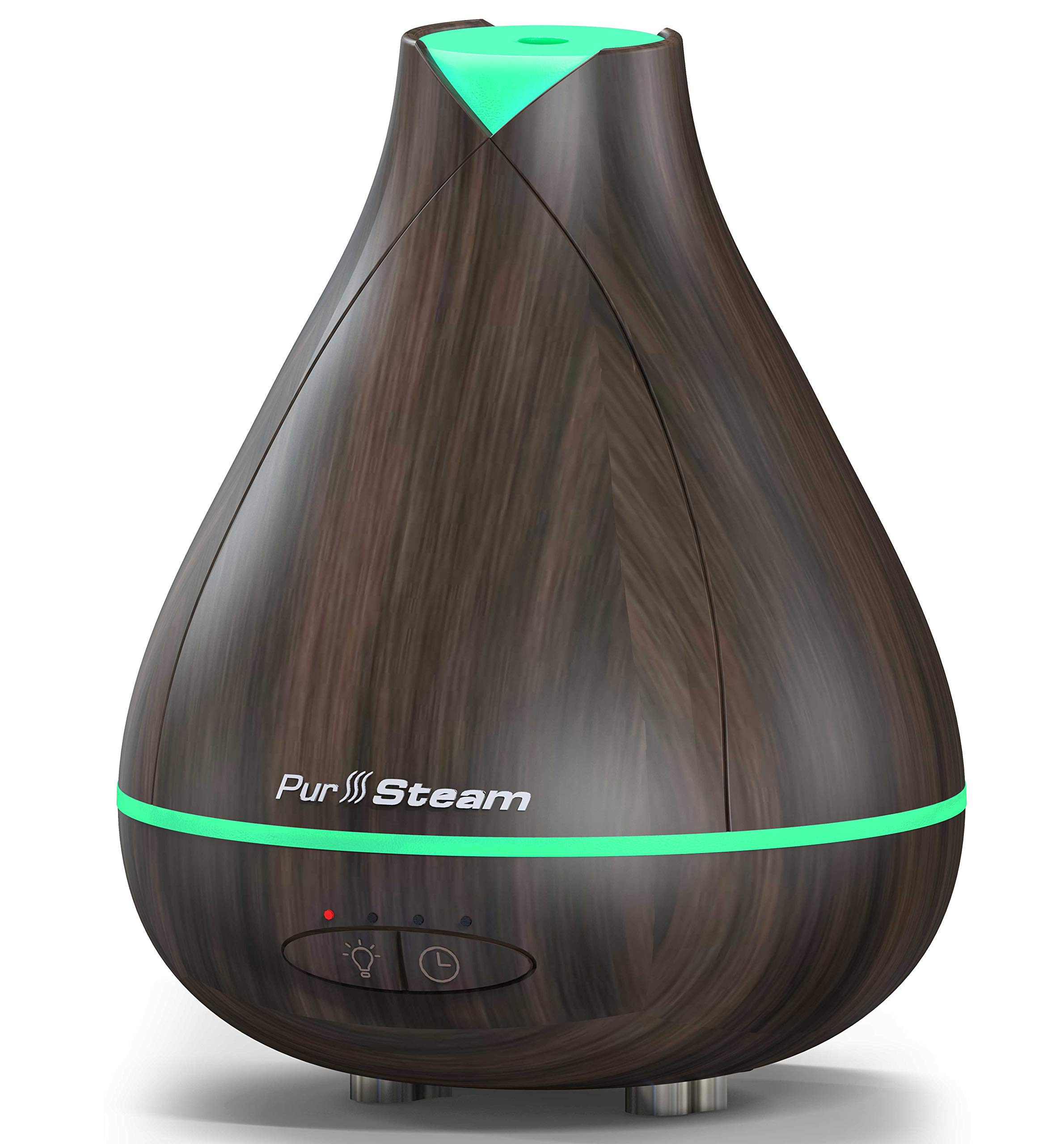 PurSteam 530ml Essential Oil Diffuser, Noise Reduce Design - Quieter, Longer Mist Output, 8-15 Hours Ultrasonic Aroma Diffuser with Waterless Auto-off, 7-Color LED Soft Light for Home, Office, Yoga by PurSteam World's Best Steamers