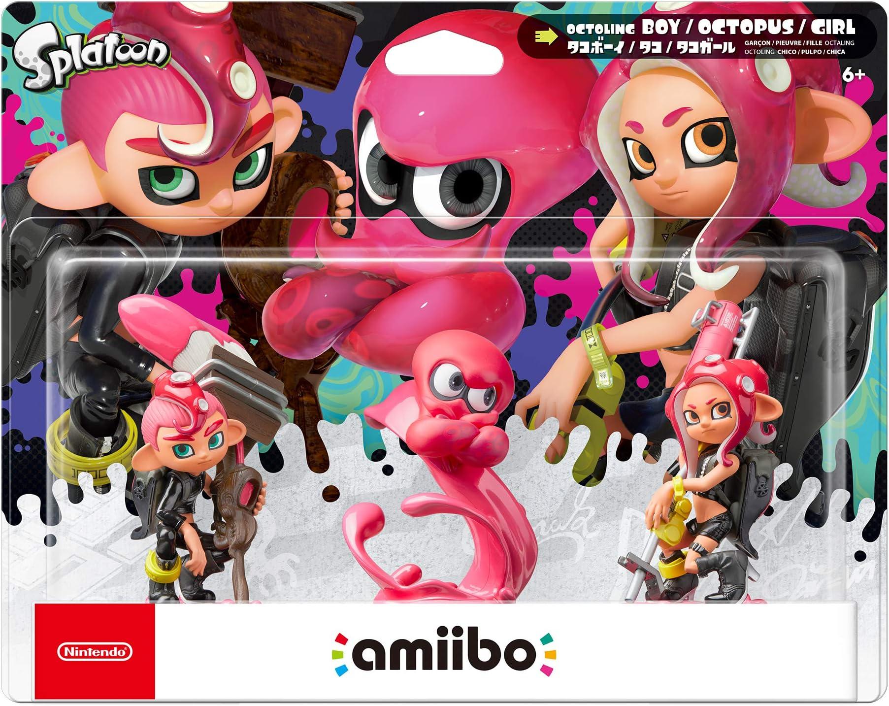 Amazon Com Nintendo Splatoon Series Octoling Amiibo 3 Pack